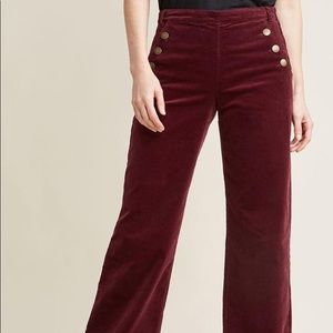 ModCloth corduroy burgundy Madison pants xs